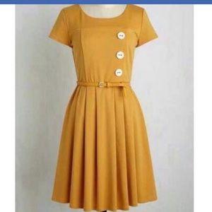 Gold ModCloth dress